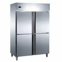 Stainless steel 4 door vertical Refrigerator