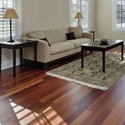 Brown Rectangular Living Room PVC Flooring