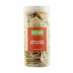 Green Garlic Rice Crackers