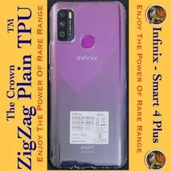 Plastic Transparent Infinix Smart 4 Plus Back Cover