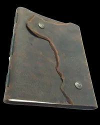 Vintage Leather Designer Flap Closure Handmade Journal