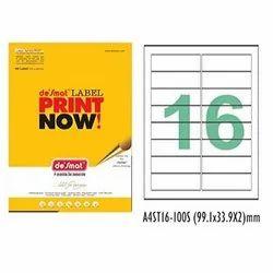 White De Samat A4 Copier Paper, Packaging Size: 500 Sheets, Size: 99.1x33.9x2 Mm