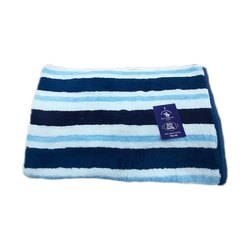Stripped Polo Racquet Club Cotton Hand Towel, 250 GSM, Size: 70x140 Inch
