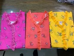 Flower Print Ladies Cotton Nighty