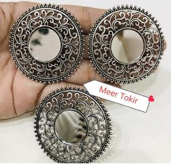 Round Metal Earring Set