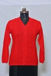 1703 Woolen Ladies Cardigan