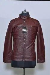 Dark Brown Mens Leather Jacket