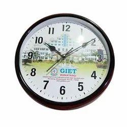 Black Printed Personalized Clock