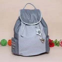 Polyster Mix Plain Stylish Girls College Bag, For Casual Backpack