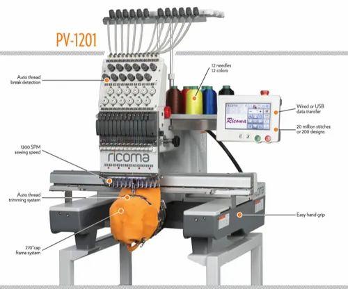 Ricoma PV-1501 Single Head Embroidery Machine