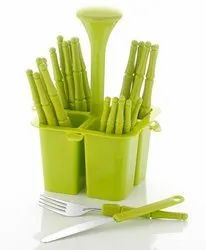 24 Plastic Cutlery Set, For Home