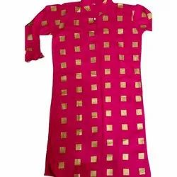 Casual Wear Straight Ladies Rayon Pink Kurti