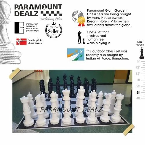 3 Feet Giant Garden Outdoor Chess Sets and  Pieces - For Restaurants/Resorts/Hotels/Navy/Army