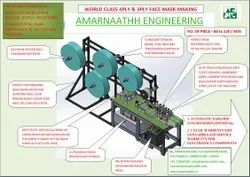 Automatic Non Woven Face Mask Making Machine (Amarnaathh India)