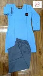 Cotton Blue Housekeeping Kurta Pajama