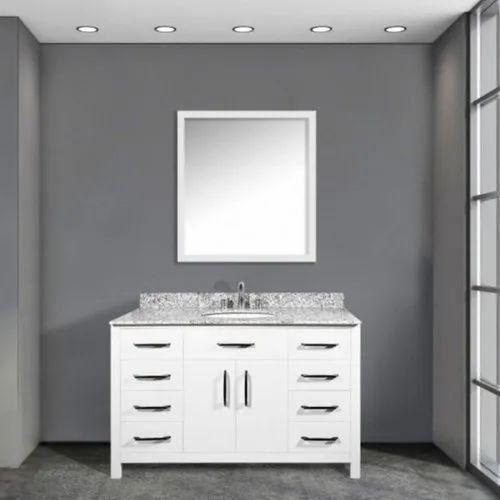 Modern Floor Mount And Wall Mount White Single Sink Bathroom Vanities, Rs  32000 /piece ID: 22623040662