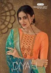 Shahnaz Arts Diyah Tussar Silk Suits Catalog Collection