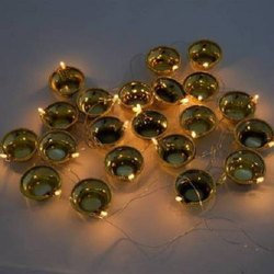 Electric 20 Deepak/Diya LED Fairy String Series Lights Home Diwali Decoration Lightning (Golden)