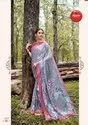 Digital Printed Satin Saree