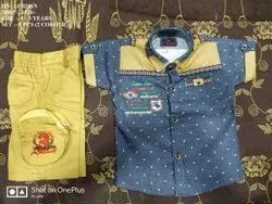 NEW FASHIONABLE DENIM SHIRT& PANT SET FOR BOYS