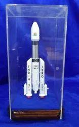 White Aluminium Rocket Model (160 Mm) Finished