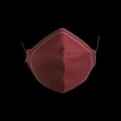 Ovee+ Maroon Two Layer Cotton Breathable Face Mask For Traffic Police, Number of Layers: 2 Layers