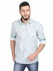 100% Cotton Collar Neck Guniaa00-10 Mens Casual Shirt