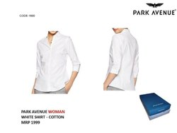 Collar Neck Formal Wear Park Avenue Women Shirt