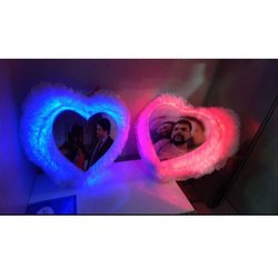 LED Heart Shaped Photo Print Cushion