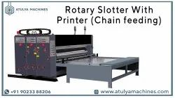Chain Feed Two Colour Flexo Printer and Slotter Machine