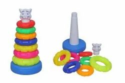 Plastic 7 Round Baby Stacker Toy, Child Age Group: 3 - 6 Years