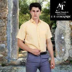 Appel Touch Cotton Men Formal Half Sleeve Shirt, Handwash