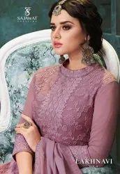 Sajawat Creation Lakhnavi Vol 4 Gerogette Readymade Salwar Kameez Catalog