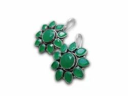 Traditional Leaf Stone Earring