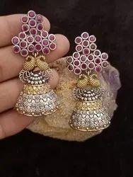 Fancy Look Alike Drop Dangle Earring With jhumka