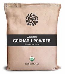 Herbs and Crops Organic Gokhru Powder, 25 Kg, Packaging Type: Laminated Paper Bags
