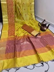 Silk Saree with Embroidered work