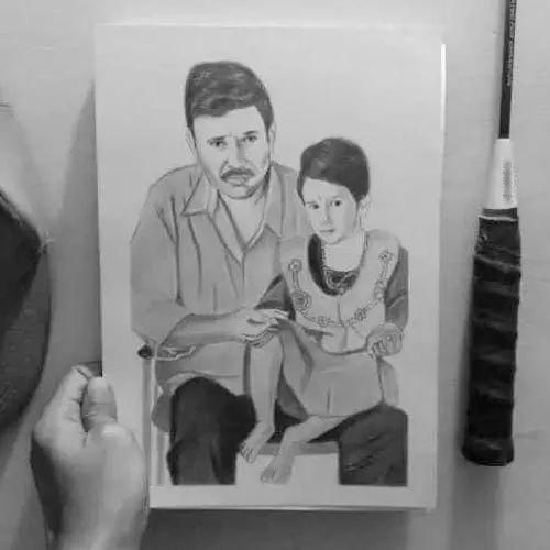 Pencil Paper A4 Sheet 2 Person Charcoal Sketch