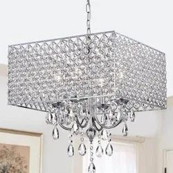 Iron & Crystal Square CRFT-CH-0052 Modern Glass Chandelier