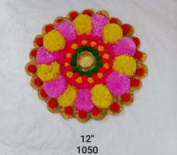 Flower Rangoli Diya