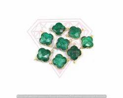 Emerald Stone Bezel Connectors