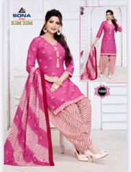 Cotton Dress Material Rim Zim