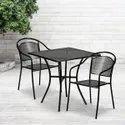 Hv Iron Cafe 2 Seater Set, Size: 30*30*30 Inch