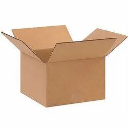 Brown Rectangular Corrugated Shipping Box