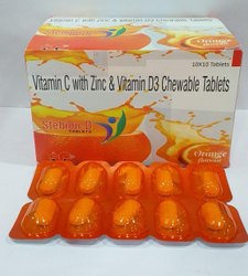 Vitamin c With Zinc & Vitamin D3 Chewable Tablets