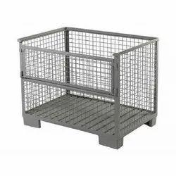 Mild Steel MS Non Edible Pallet Box, Capacity: 300 Kg