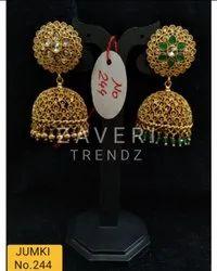 244 Gold Plated Fashion Jhumki