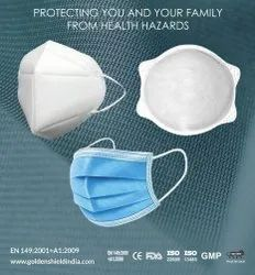 REUSABLE N95 Cup Mask With Aluminum Nose Pin With Head Loop, Number of Layers: 5 Layers