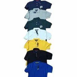 Half Sleeves Plain Mens Designer Polo T Shirts