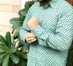 Mix Cotton Printed Shirts, Size: M-XXL